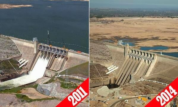 California Water Drought - Before & After