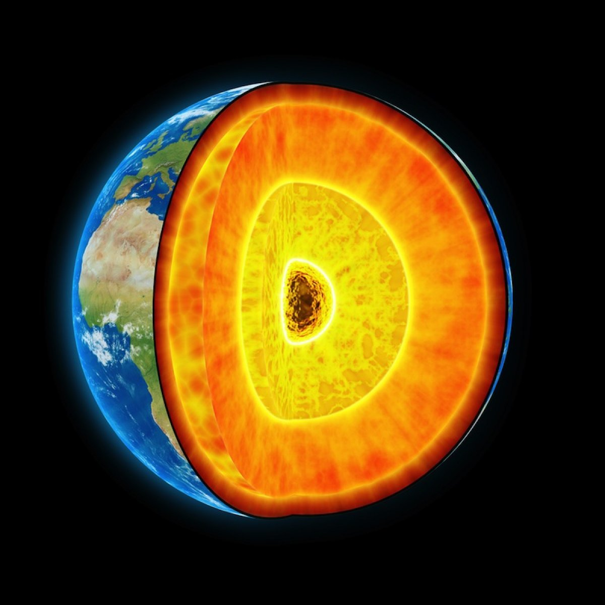 More oxygen in the earth's core.